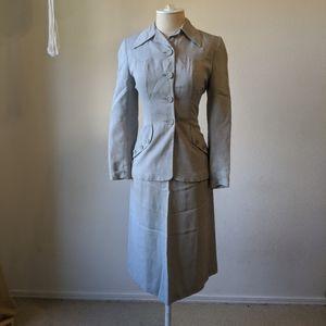 Vintage 40s gaberdine womens suit